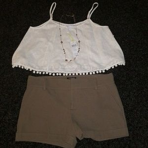 BCBGgeneration crop top size large new with tags
